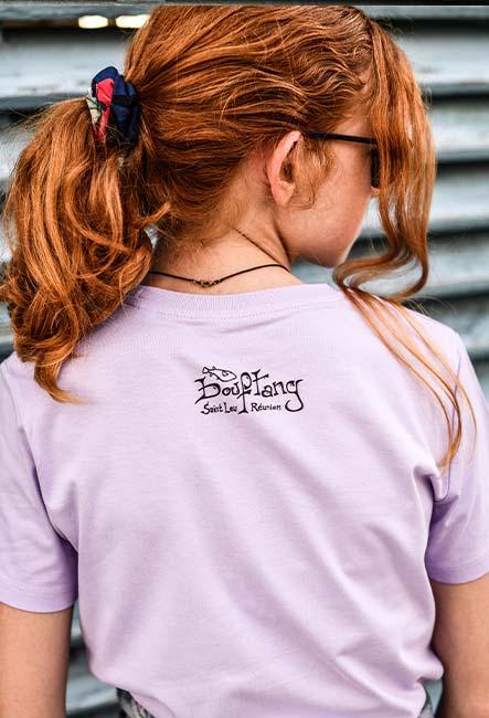 Tee-shirt Enfant Baleine - Sérigraphie artisanale - Saint-Leu île de la Réunion - Coton 100% Biologique - Équitable - Bouftang Art