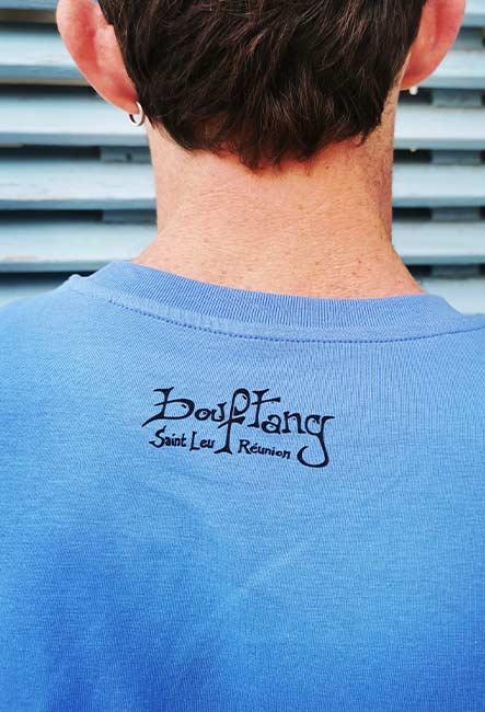 Le Bateau - Tee-shirt - Sérigraphie artisanale - Saint-Leu île de la Réunion - Coton 100% Biologique - Équitable - Dessin by Bouftang