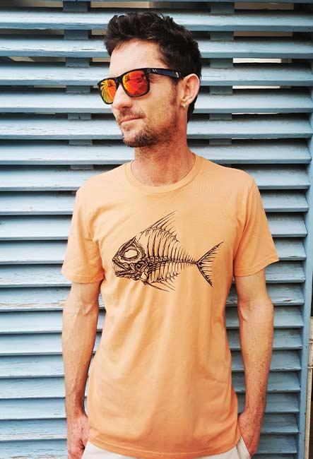 Zarêt - Tee-shirt - Sérigraphie artisanale - Saint-Leu île de la Réunion - Coton 100% Biologique - Équitable - Dessin by Bouftang