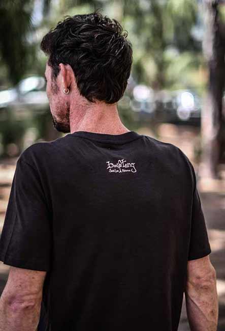 Tee-Shirt Le Tentacule - Sérigraphie artisanale - Saint-Leu île de la Réunion - Coton 100% Biologique - Équitable - Bouftang Art